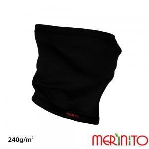 Neck Tube Merinito Merinos + Bambus 240g Negru