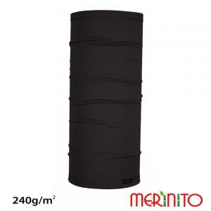 Neck Tube Merinito Merinos + Bambus 240g 50cm Negru
