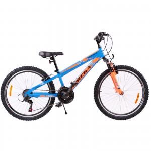 "Bicicleta Mountain Bike Copii Omega Gerald 24"" 2019 Albastru"