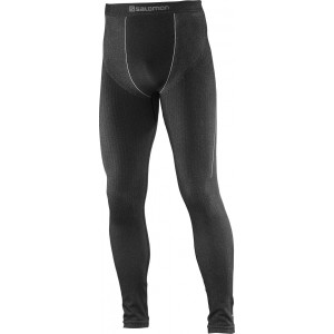 Pantaloni First Layer Salomon Primo Warm Tight M Negru