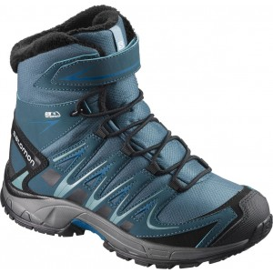 Incaltaminte Hiking Salomon Xa Pro 3D Winter Thinsulate CS WP J Albastru