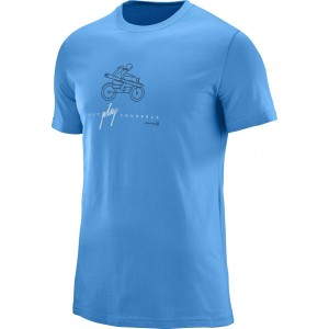 Tricou Salomon Outdoor Graphic SS M Bleu