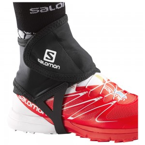 Gaiter Alergare Salomon Trail Gaiters Low Negru