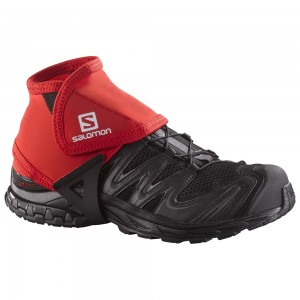 Protectii alergare Salomon Trail Gaiters Low Rosii