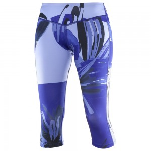 Pantaloni Salomon Elevate 3/4 Tight W Albastri