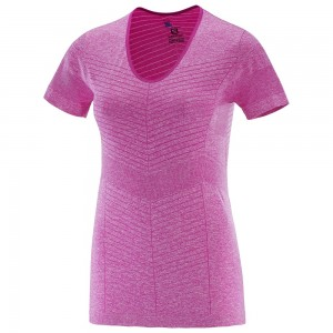 Tricou Salomon Elevate Seamless SS W Roz