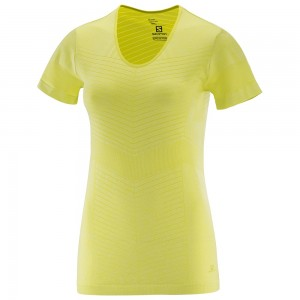 Tricou Salomon Elevate Seamless SS W Galben