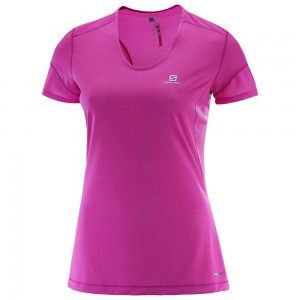 Tricou Salomon Trail Runner SS W Roz