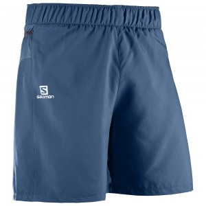 Pantaloni scurti Salomon Trail Runner M Bleumarin