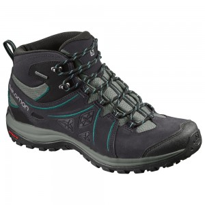 Ghete Femei Hiking Salomon Ellipse 2 Mid LTR GTX Antracit / Mint