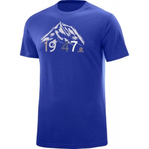 Tricou Hiking Salomon 1947 SS M Albastru