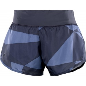 Pantaloni Scurti Alergare Salomon Elevate 2In1 W Indigo