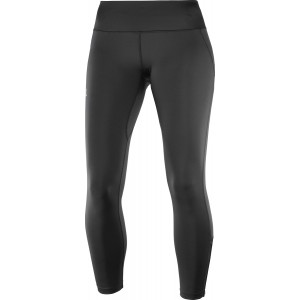 Pantaloni Femei Alergare Salomon Agile Long Tight Negru