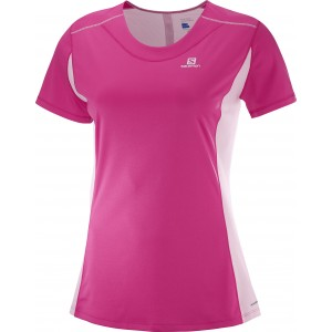 Tricou Alergare Salomon Agile Heather W Roz