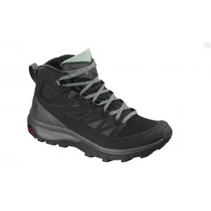 Ghete Femei Hiking Salomon Outline Mid GTX Negru / Gri