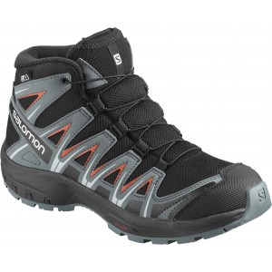 Ghete Juniori Hiking Salomon XA Pro 3D Mid CSWP Negru / Gri