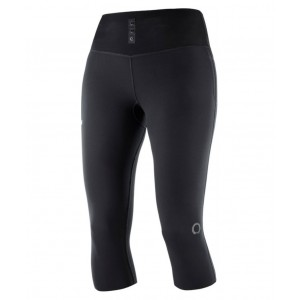 Pantaloni 3/4 Femei Alergare Salomon S/Lab NSO Mid Tight Negru