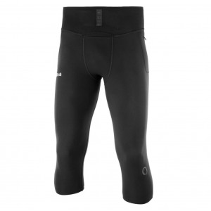 Pantaloni 3/4 Barbati Alergare Salomon S/Lab NSO Mid Tight Negru