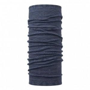 Neck Tube Buff Lightweight Wool Edgy Denim