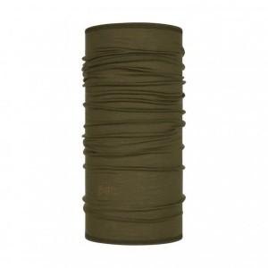 Bandana Unisex Buff Lightweight Wool Solid Bark (Kaki)