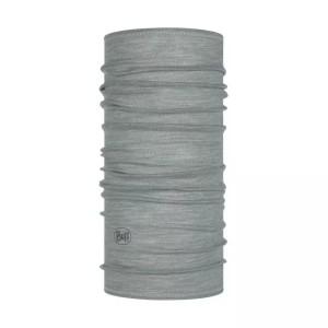 Bandana Tubulara Drumetie Unisex Buff Lightweight Merino Wool Solid Light Grey