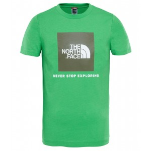 Tricou Hiking The North Face Box S/S JR Verde