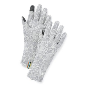 Manusi Femei Smartwool Merino 250 Pattern Glove Light Gray Traced Dahlia (Gri)