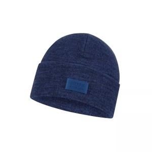 Caciula Drumetie Unisex Buff Merino Wool Fleece Olympian Blue