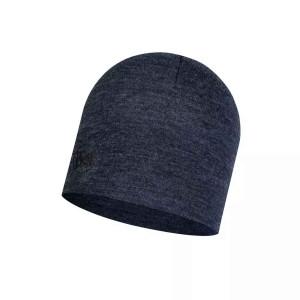 Caciula Drumetie Unisex Buff Wool Midweight Night Blue Melange