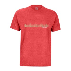 Tricou Drumetie Barbati Marmot Forest Tee SS Red Heather (Rosu)