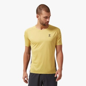 Tricou Alergare Barbati ON Performance-T Mustard Pebble (Galben)