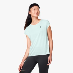 Tricou Alergare Femei ON Performance-T Jade Ice (Bleu)