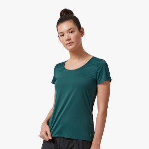 Tricou Alergare Femei ON Performance-T Evergreen Black (Verde)