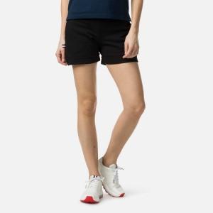 Pantaloni Scurti Femei Rossignol W Sweat Short Black (Negru)