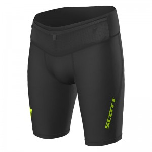 Pantaloni scurti Barbati Alergare Scott RC Run Tight Negru / Galben
