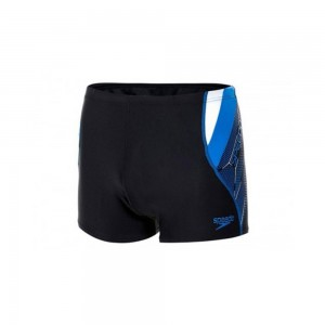 Boxeri inot Barbati Speedo Logo Curve Bleumarin / Albastru / Alb