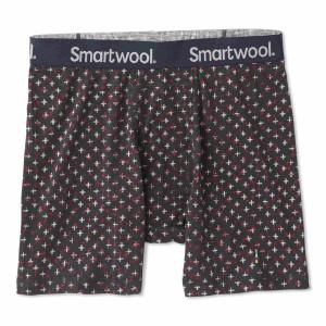 Boxeri Barbati Smartwool Merino 150 Pattern Charcoal Tick Stitch Print (Antracit)