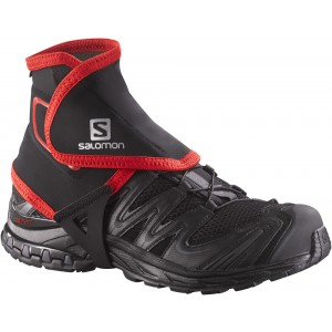 Gaiter Alergare Salomon Trail Gaiters High Negru