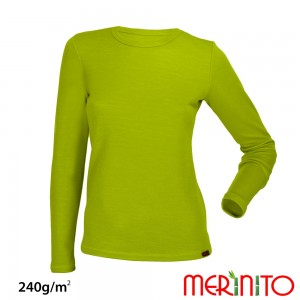 Bluza First Layer Merinito/ Bambus Femei Lime