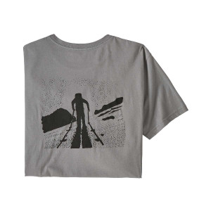 Tricou Barbati Patagonia Breaking Trail Organic T-Shirt Feather Grey  (Gri)