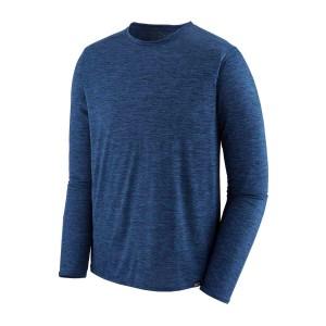 Bluza Drumetie Barbati Patagonia L/S Capilene Cool Daily Shirt Navy Blue X-Dye (Bleumarin)
