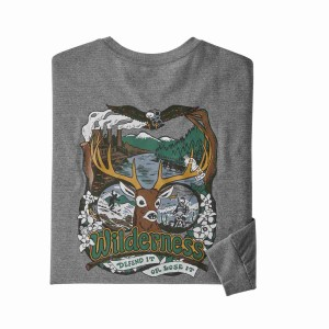 Bluza Barbati Patagonia L/S Yes To Wilderness Responsibili-Tee Gravel Heather (Gri)