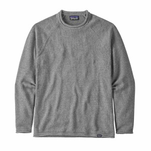 Bluza Barbati Patagonia Ponderosa Pine Roll Neck Sweater Noble Grey (Gri)