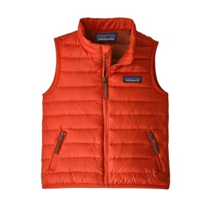 Vesta Copii Patagonia Baby Down Sweater Vest Hot Ember  (Caramiziu)