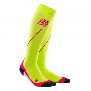 Sosete Compresie CEP Progressive+ Compression Run 2.0 W Lime / Roz