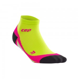 Sosete Alergare CEP Dynamic+ Run Low-Cut W Lime / Roz