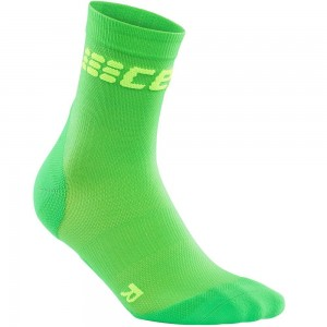 Sosete Alergare CEP Dynamic+ Run Ultralight Short W Verde / Verde