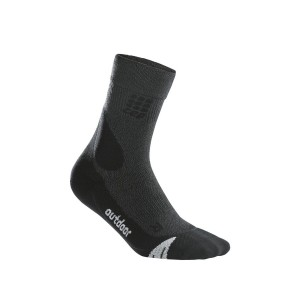 Sosete Compresie CEP Dynamic+ Outdoor Mid-Cut W Gri / Negru