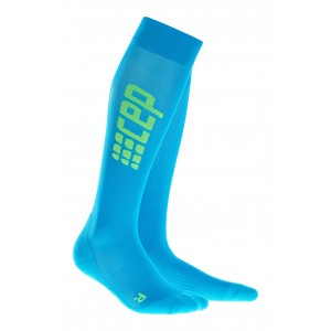 Sosete Compresie CEP Progressive+ Ultralight Compression Run M Bleu / Verde