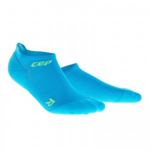 Sosete Alergare CEP Dynamic+ Run Ultralight No-Show M Bleu / Verde